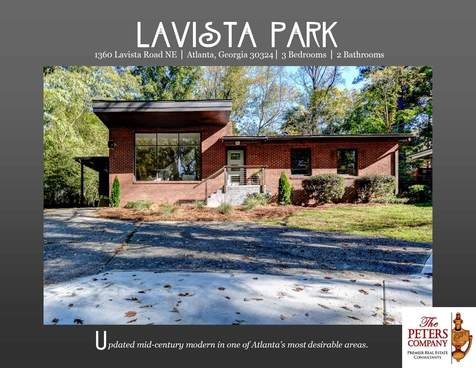 just listed renovated mid century modern in lavista park the