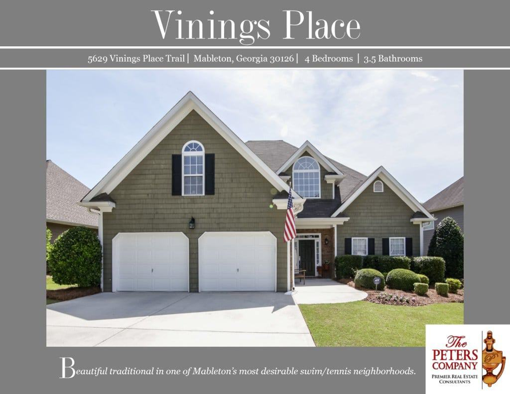 5629 Vinings Place Trail Flyer front