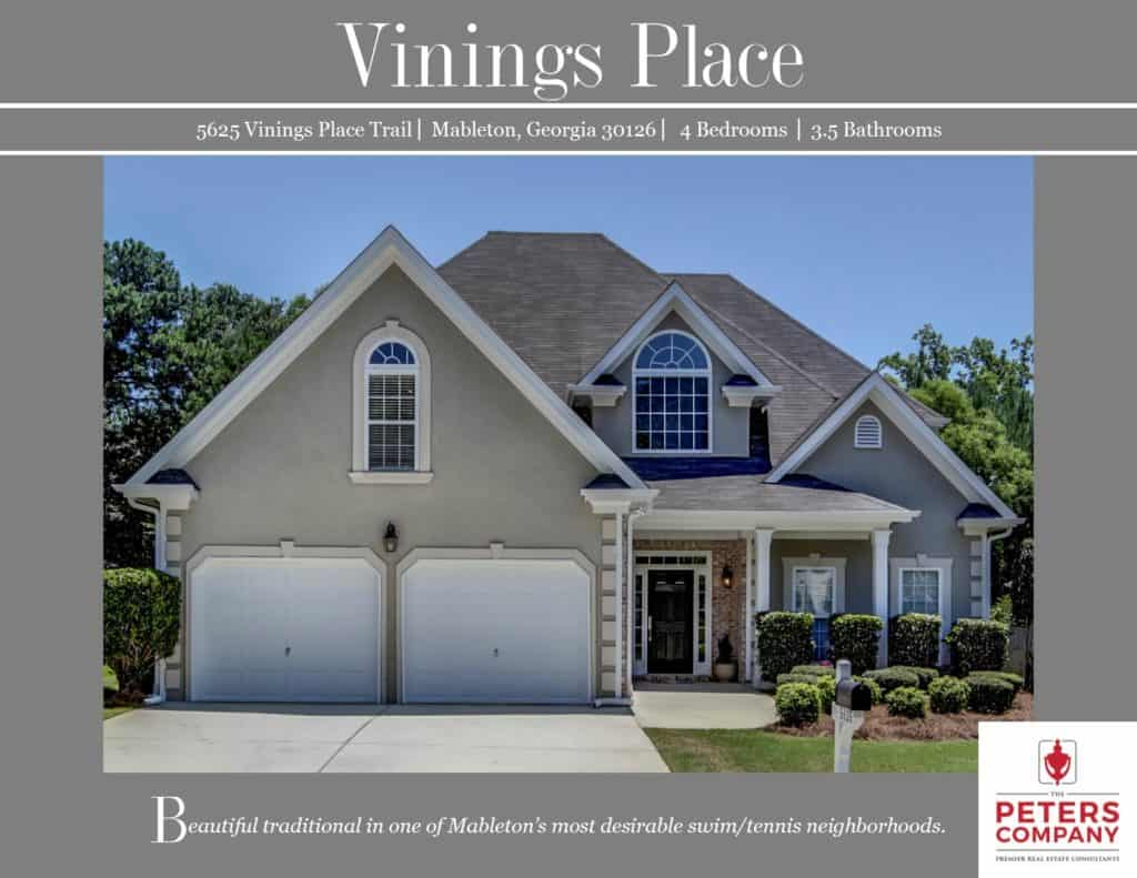 5625 Vinings Place Trail Flyer front